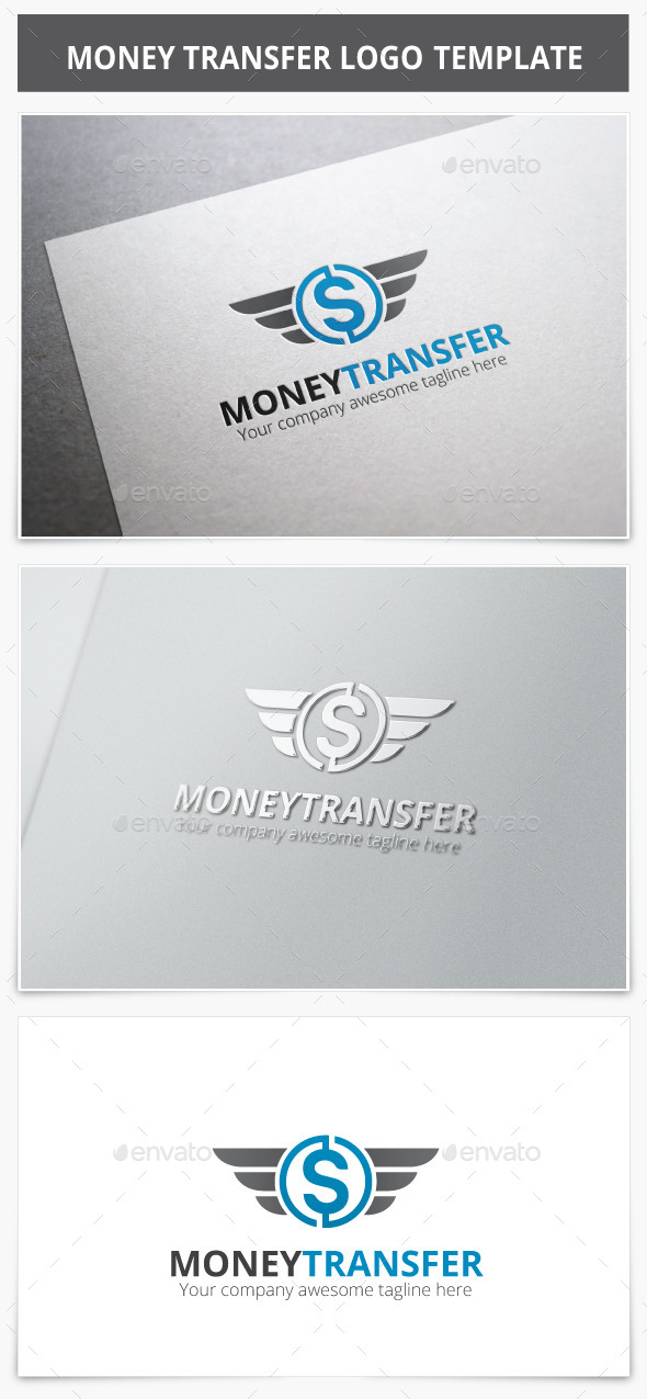 GraphicRiver Money Transfer Logo 9467876