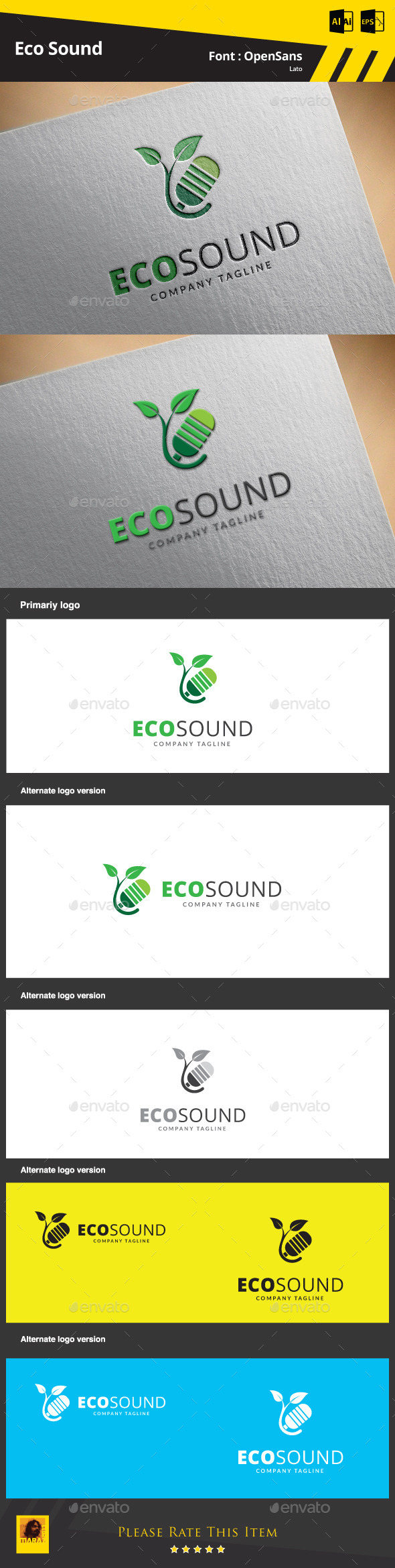 GraphicRiver Eco Sound Logo Template 9467926
