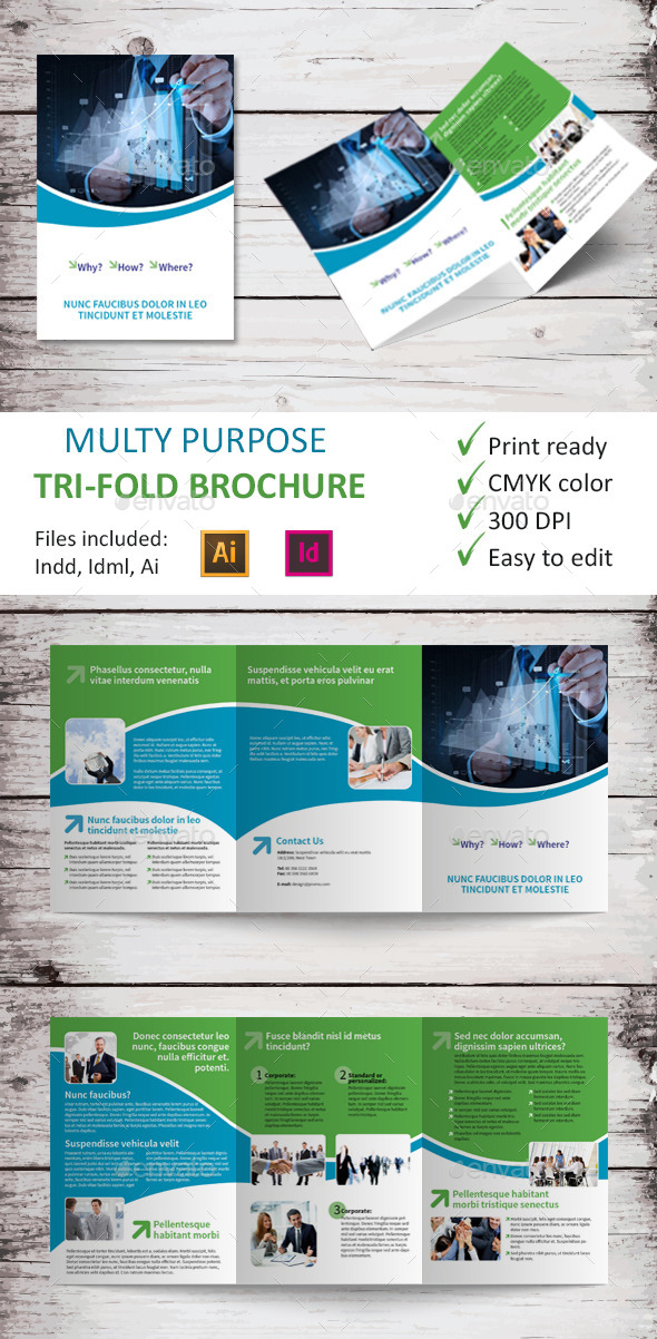 GraphicRiver Multy Purpose Tri-Fold Brochure 9467935