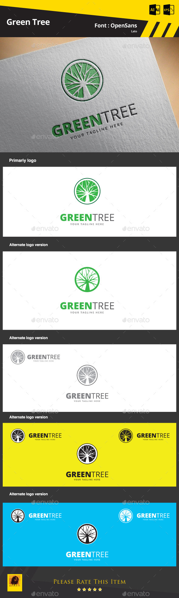 GraphicRiver Green Tree Logo Template 9468007