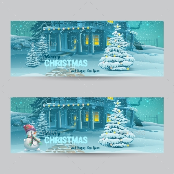 GraphicRiver Set of Banners with Christmas and New Year 9468169