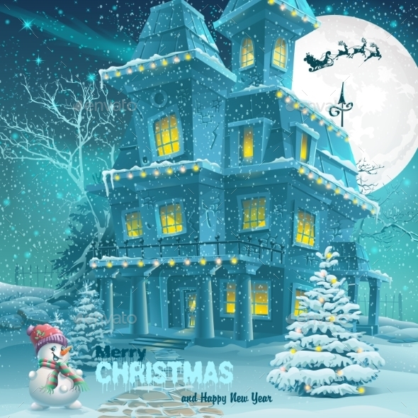 GraphicRiver Christmas And New Year Greeting Card 9468171
