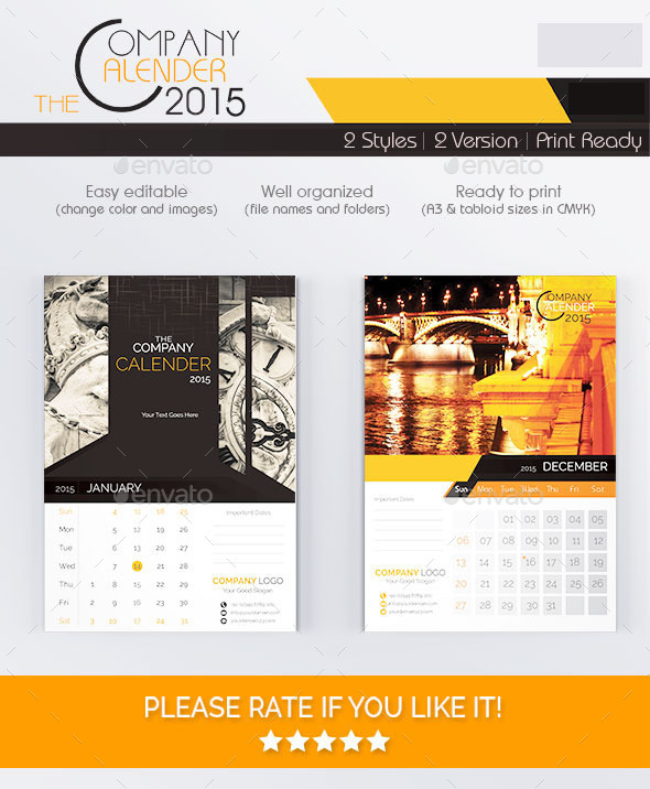 GraphicRiver The Company Calendar 2015 9468237
