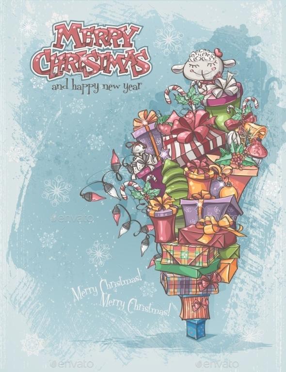 GraphicRiver Christmas CArd 9468268