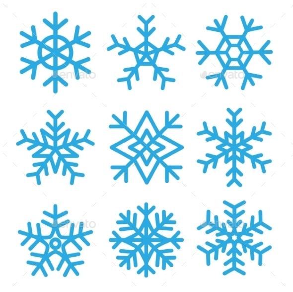 GraphicRiver Snowflakes 9468310