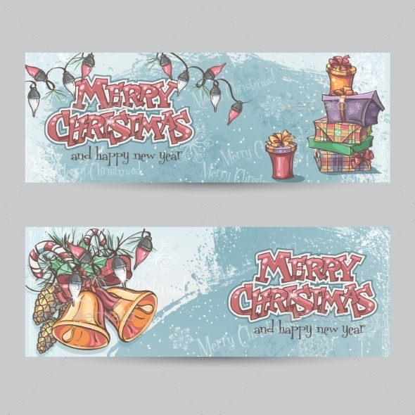 GraphicRiver Set of Horizontal Christmas Cards 9468447