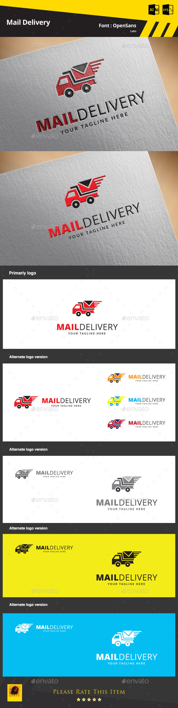 GraphicRiver Mail Delivery Logo Template 9468568