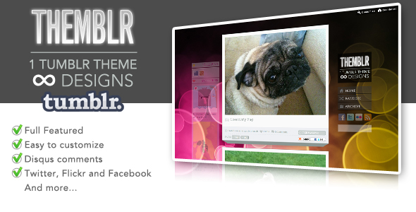 Themblr - 1 Tumblr Theme infinite designs