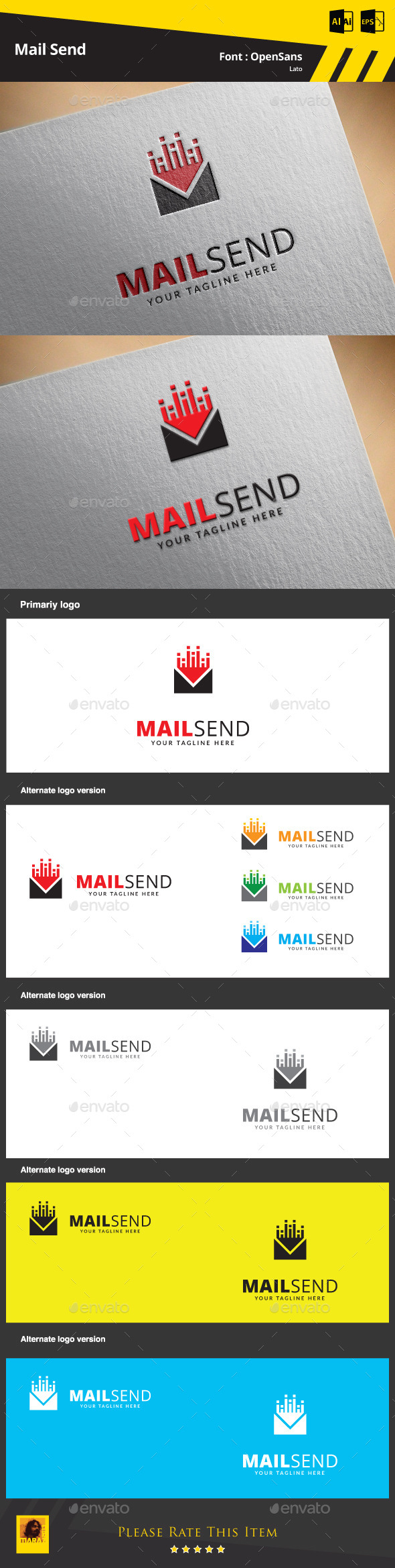 GraphicRiver Mail Send Logo Template 9468827