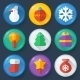 New year vector buttons in glossy flat style - GraphicRiver Item for Sale