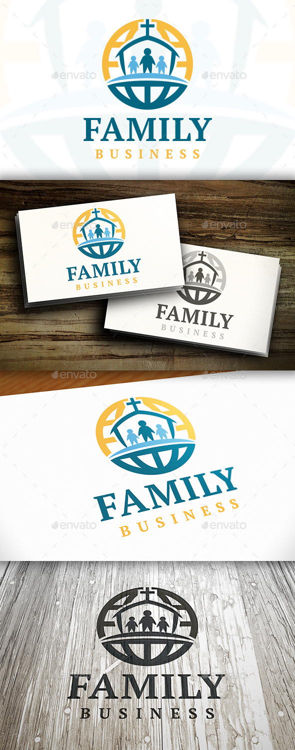 GraphicRiver World Church Logo 9468888