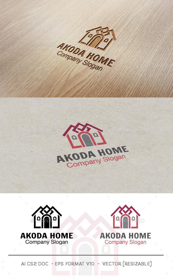 GraphicRiver Akoda Home Logo 9468889