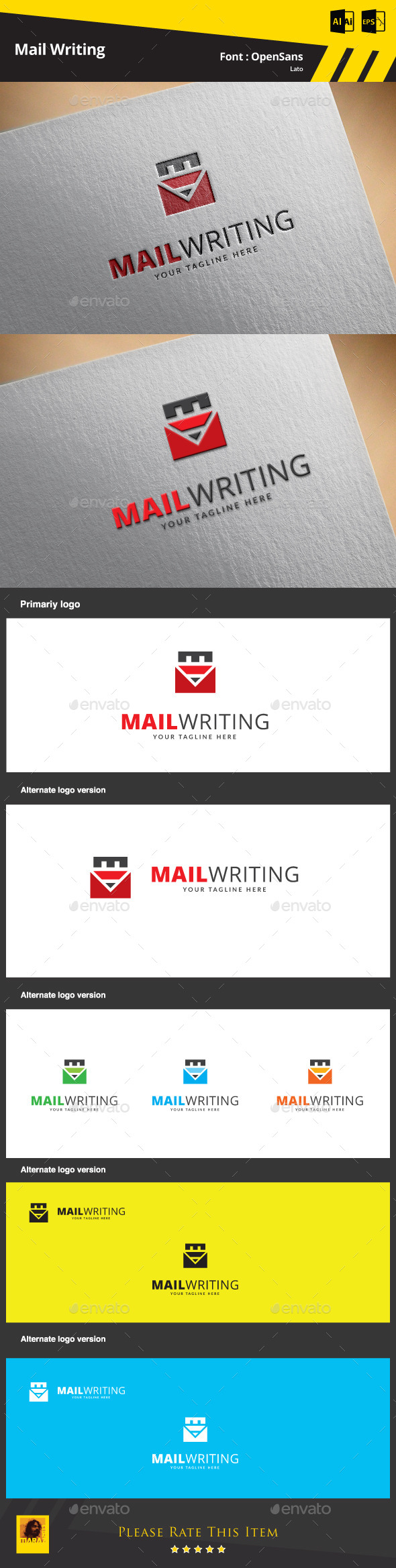 GraphicRiver Mail Writing Logo Template 9468900