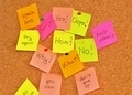 Notice board with sticky note pads - PhotoDune Item for Sale