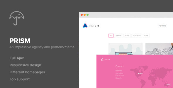 ThemeForest Prism Portfolio & Photography Retina Theme 9221777