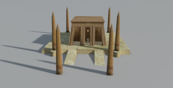 3DOcean Ancient Egyptian Obelisk Temple 9469343