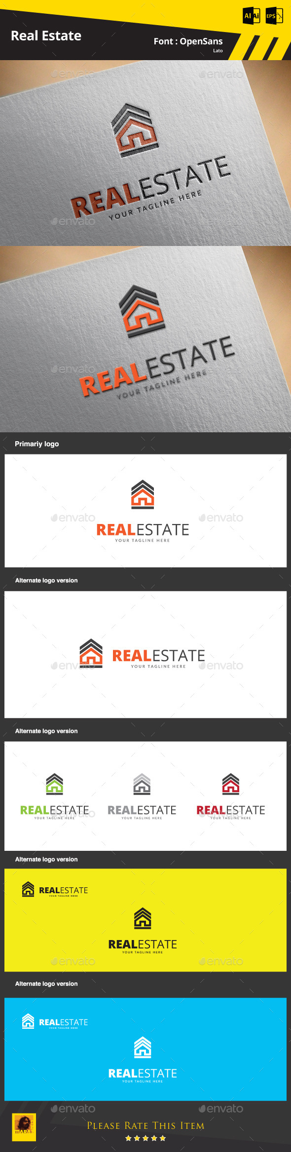 GraphicRiver Real Estate Logo Template 9469347