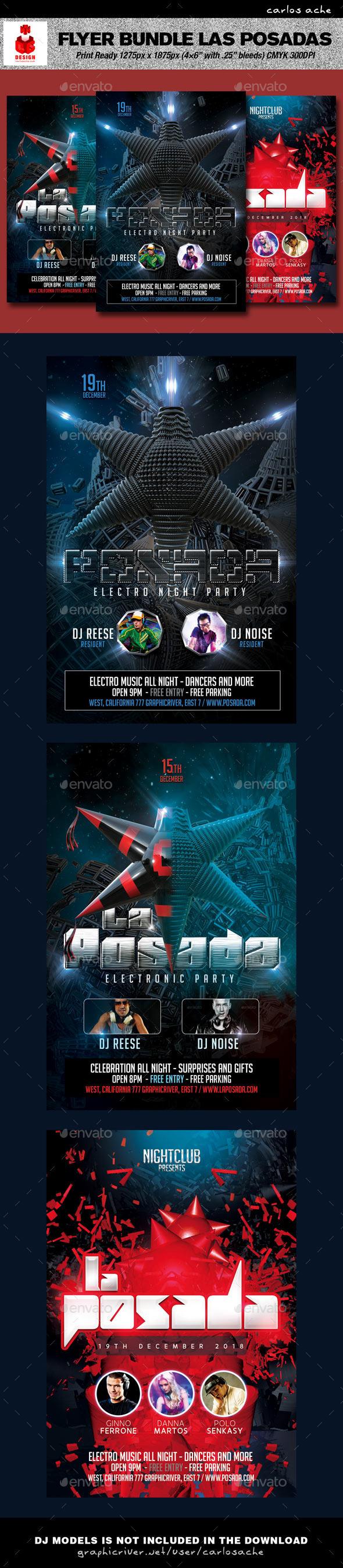 GraphicRiver Las Posadas Flyer Bundle 9434213