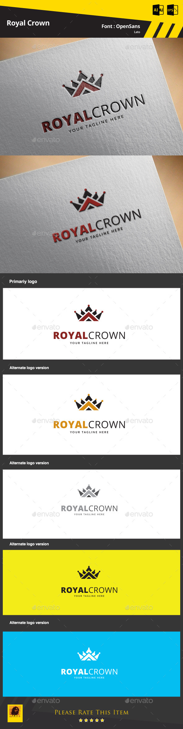 GraphicRiver Royal Crown Logo Template 9469503