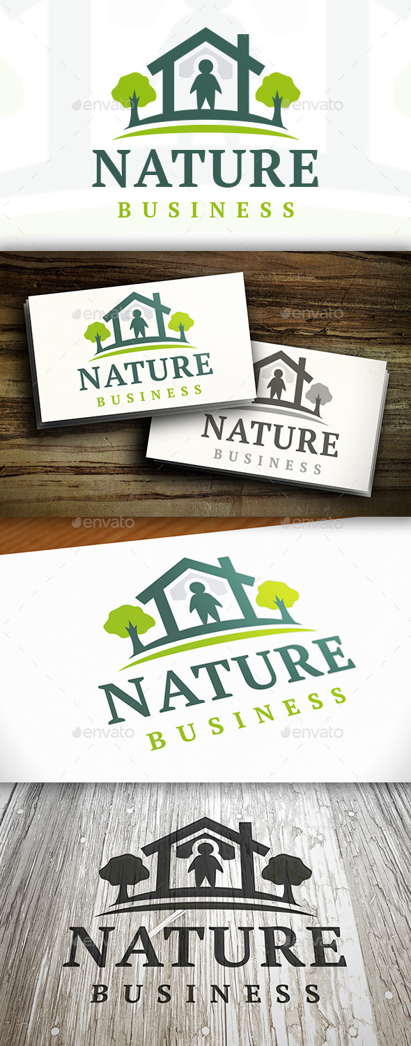 GraphicRiver Nature House Logo 9469530