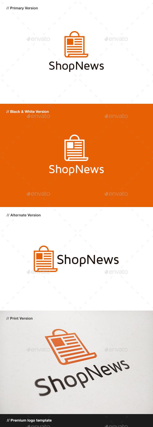 GraphicRiver Shop News Logo 9469592