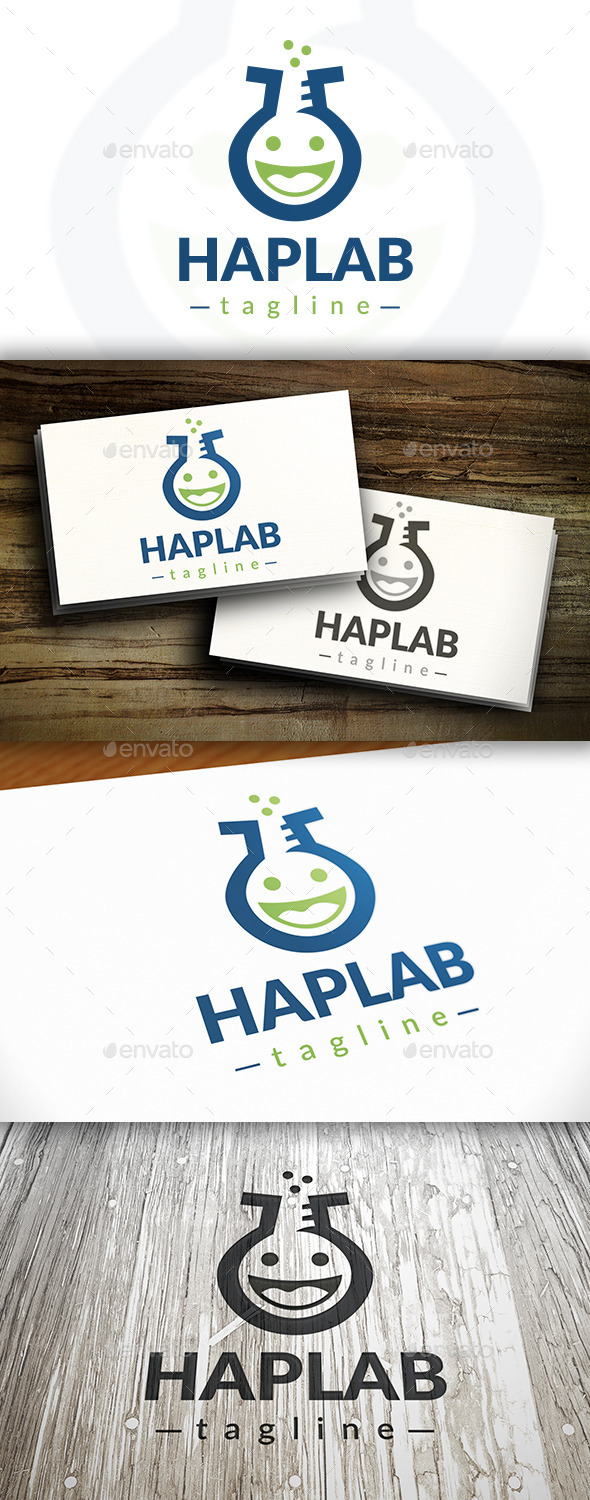 GraphicRiver Happy Labs Logo 9469595