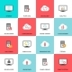 Hosting, Server, Database and Cloud Icons - GraphicRiver Item for Sale