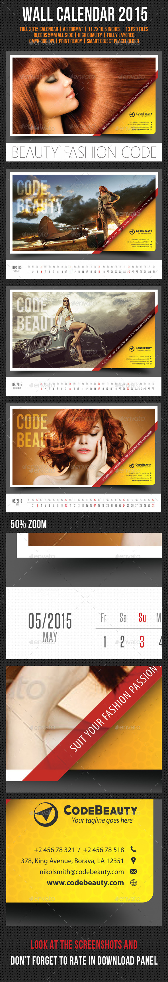 GraphicRiver Wall Calendar 2015 V12 9469680