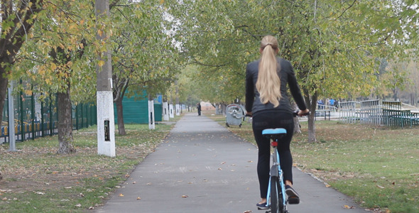 Girl Rides a Bicycle 3