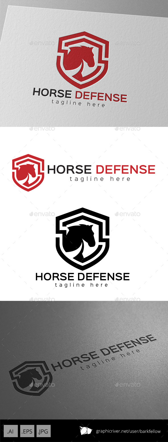 GraphicRiver Horse Defense Shield Logo 9469734