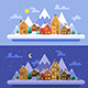 Christmas time. Vector flat illustrations - GraphicRiver Item for Sale