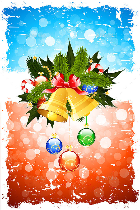 GraphicRiver Grungy Christmas Greeting Card 9469776