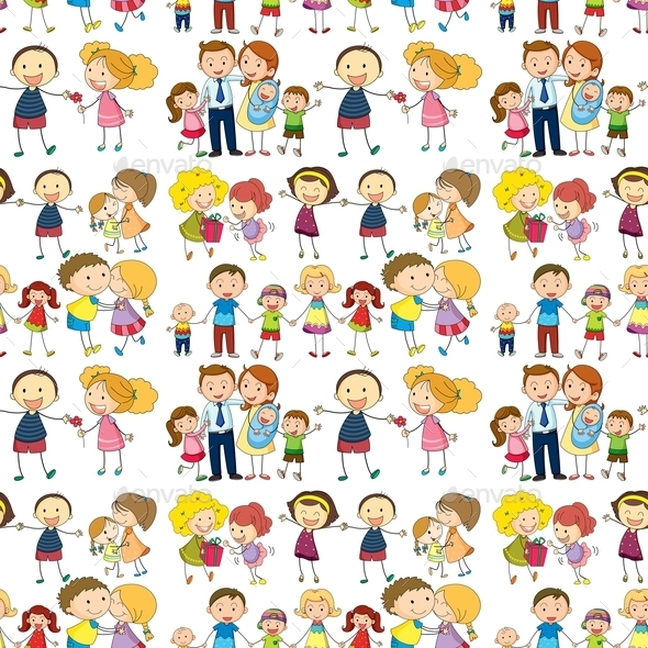 GraphicRiver Seamless Family 9469970