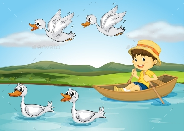 GraphicRiver Ducks and a Kid 9469978