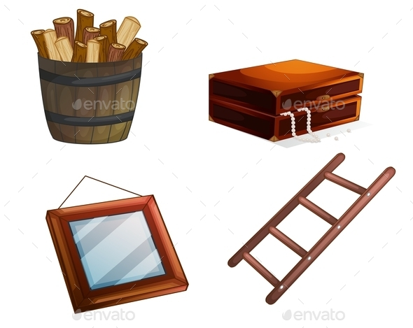 GraphicRiver Various Wooden Objects 9469994