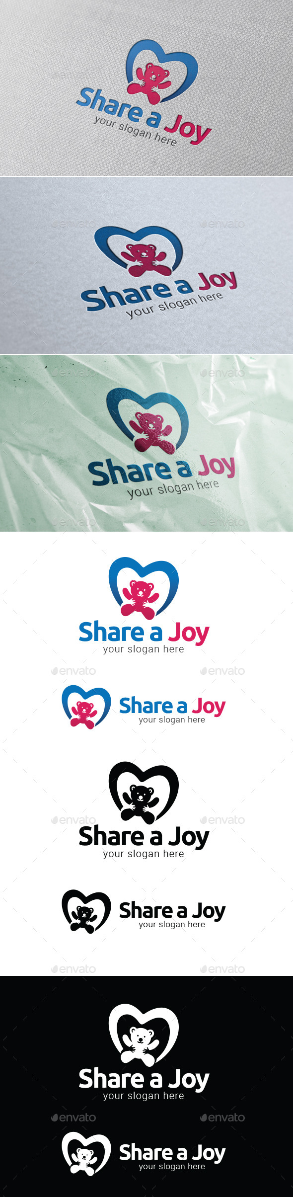 GraphicRiver Share A Joy Logo Template 9470060
