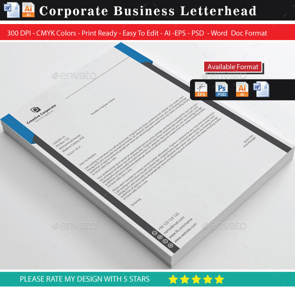 GraphicRiver Slide 2 Letterhead 9470112