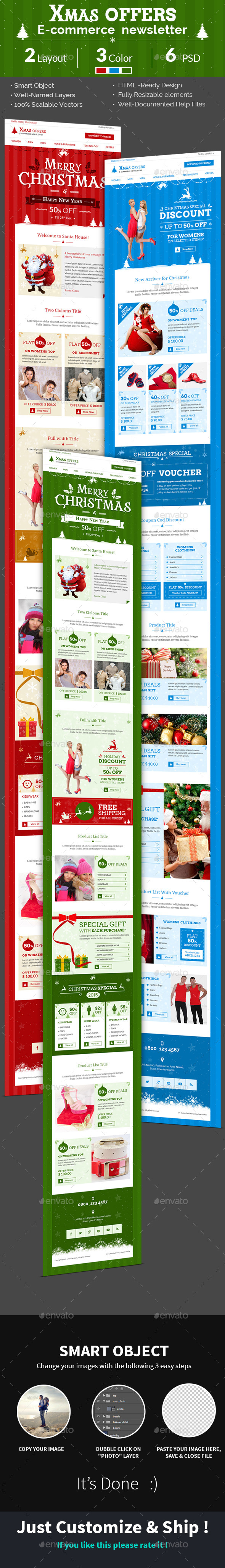 GraphicRiver Christmas Shopping Offers e-Commerce Newsletter 9470130