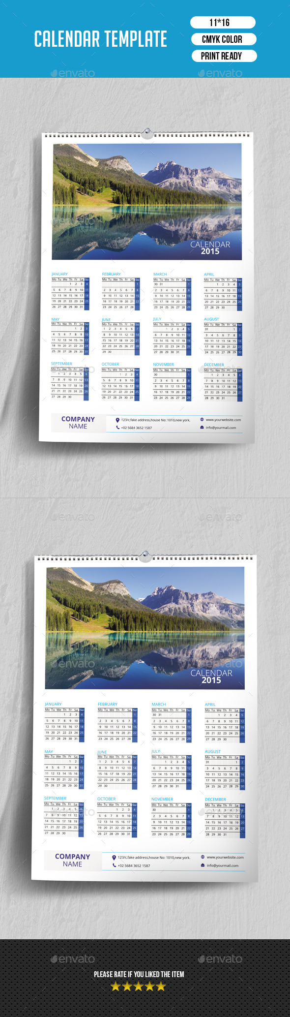 GraphicRiver Wall Calendar 2015 V02 9470234