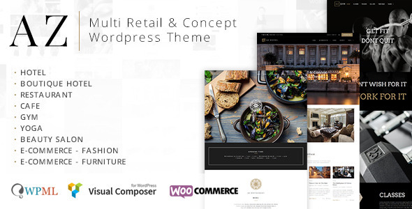 ThemeForest AZ Multi Retail & Concept Wordpress Theme 9279746