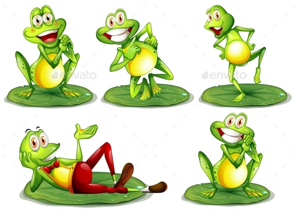 GraphicRiver Frogs Set 9470503