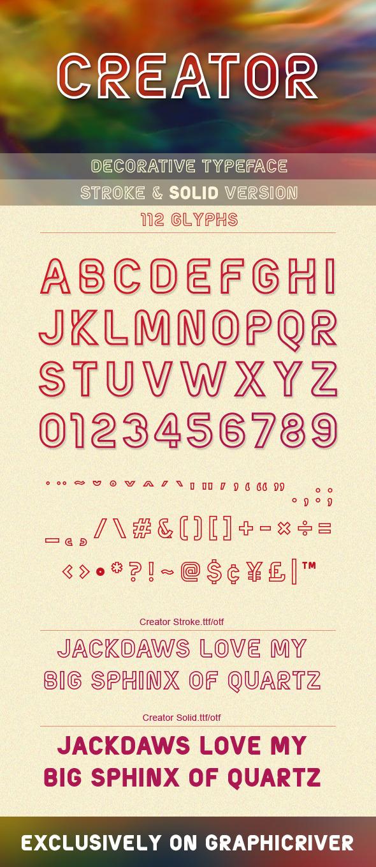 GraphicRiver Creator Typeface 9470506