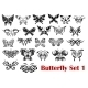 Butterfly Silhouette Icons  - GraphicRiver Item for Sale