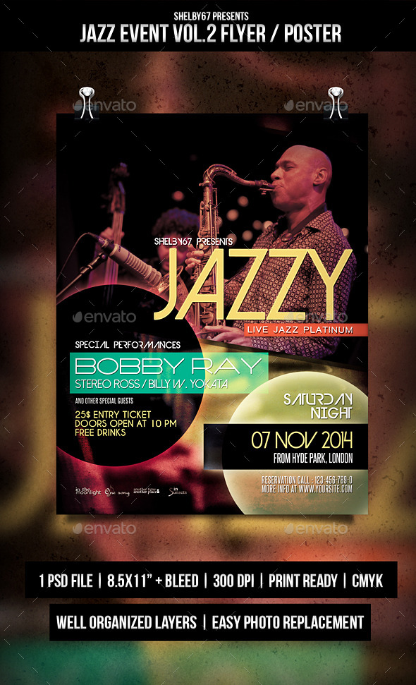 GraphicRiver Jazz Event Flyer Poster Vol.2 9387298