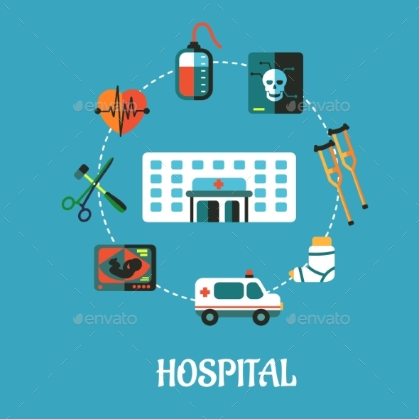 GraphicRiver Hospital Flat Inforgraphic Design 9471027