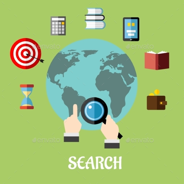 GraphicRiver Man Conducting a Global Search 9471031