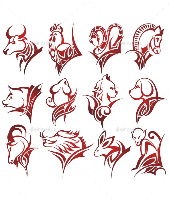 Zodiac tattoo design collections stock for Year of the monkey tattoo