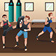 Boxer Training in the Gym - GraphicRiver Item for Sale