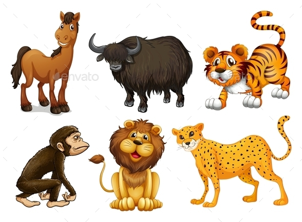 GraphicRiver Different Kinds of Four-Legged Animals 9471191