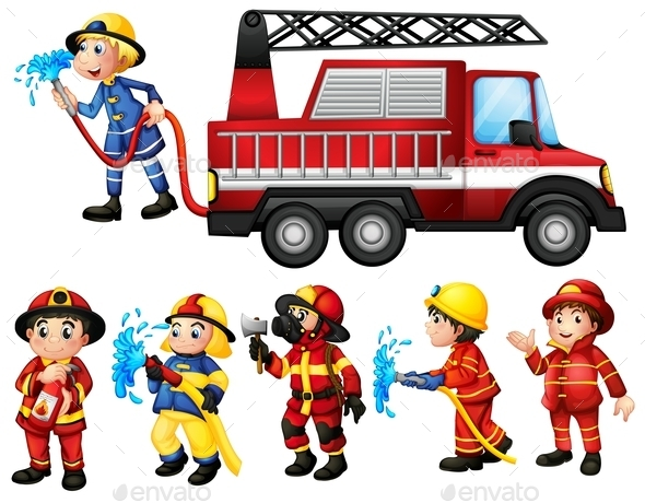 GraphicRiver Firefighters 9471204